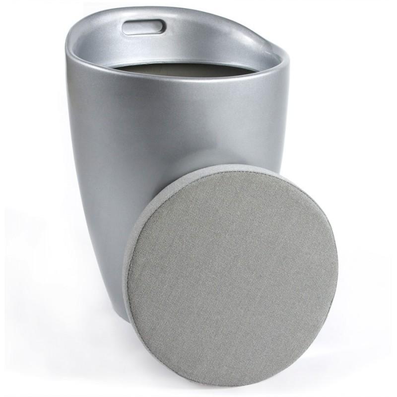 Tabouret coffre YONNE en ABS (matière plastique résistante) (argent) - image 18045