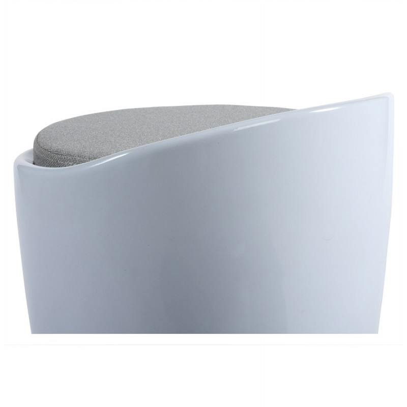 Tabouret coffre YONNE en ABS (matière plastique résistante) (blanc) - image 18050