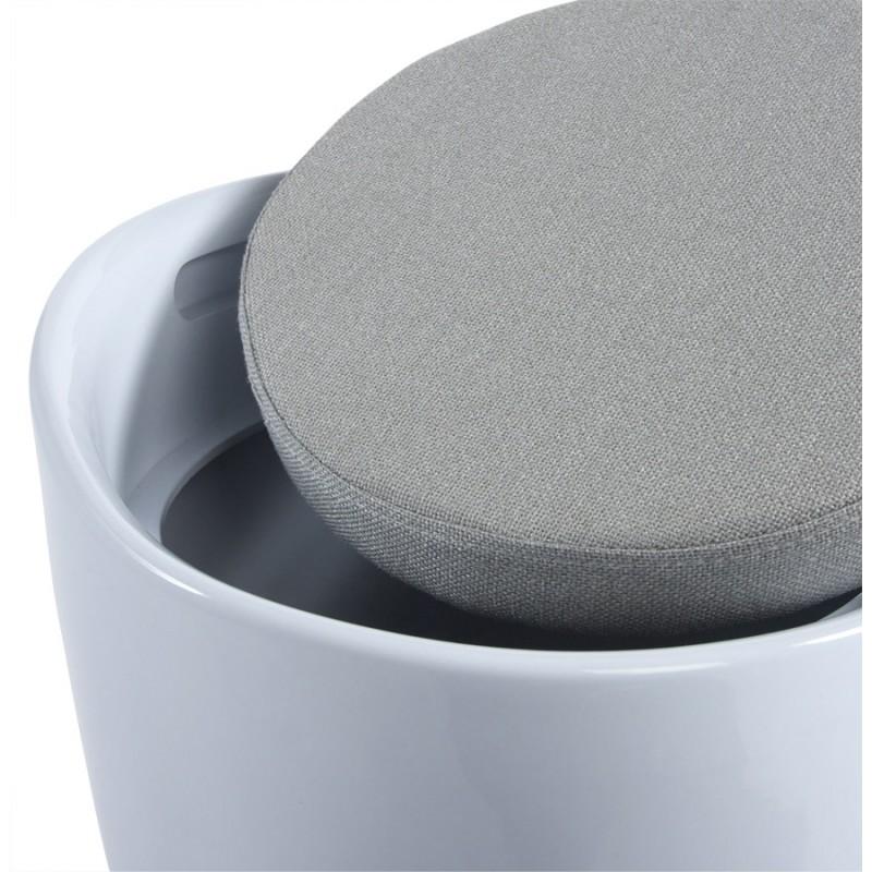 Tabouret coffre YONNE en ABS (matière plastique résistante) (blanc) - image 18052