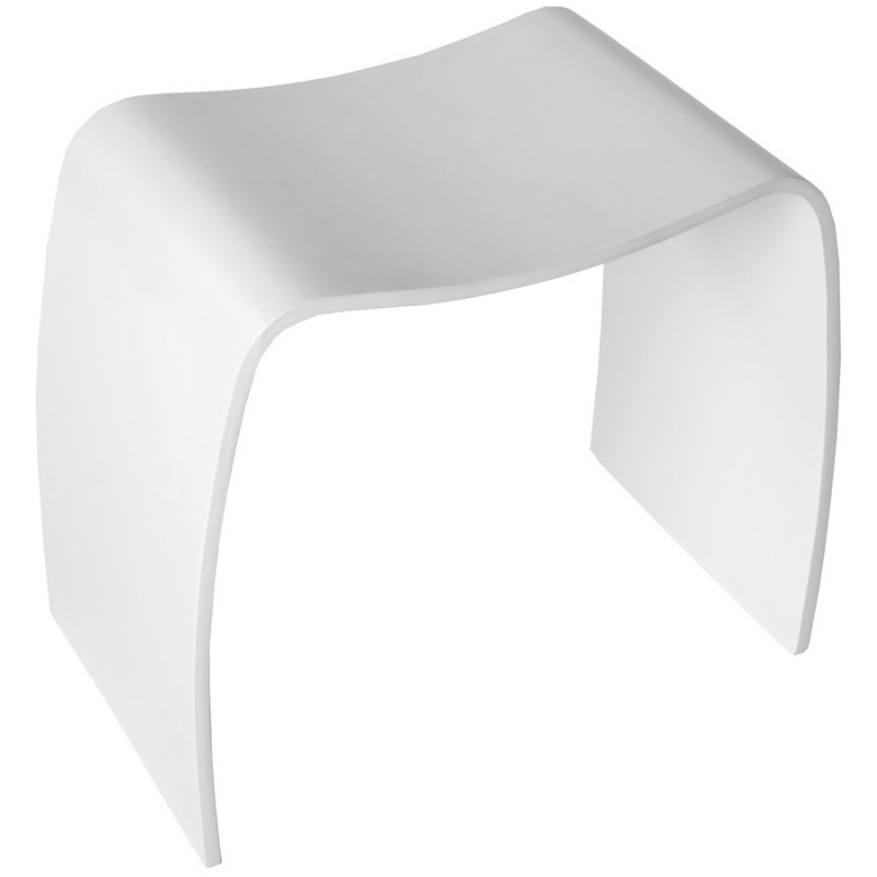 Low stool MEUSE wooden painted (white) - image 18060
