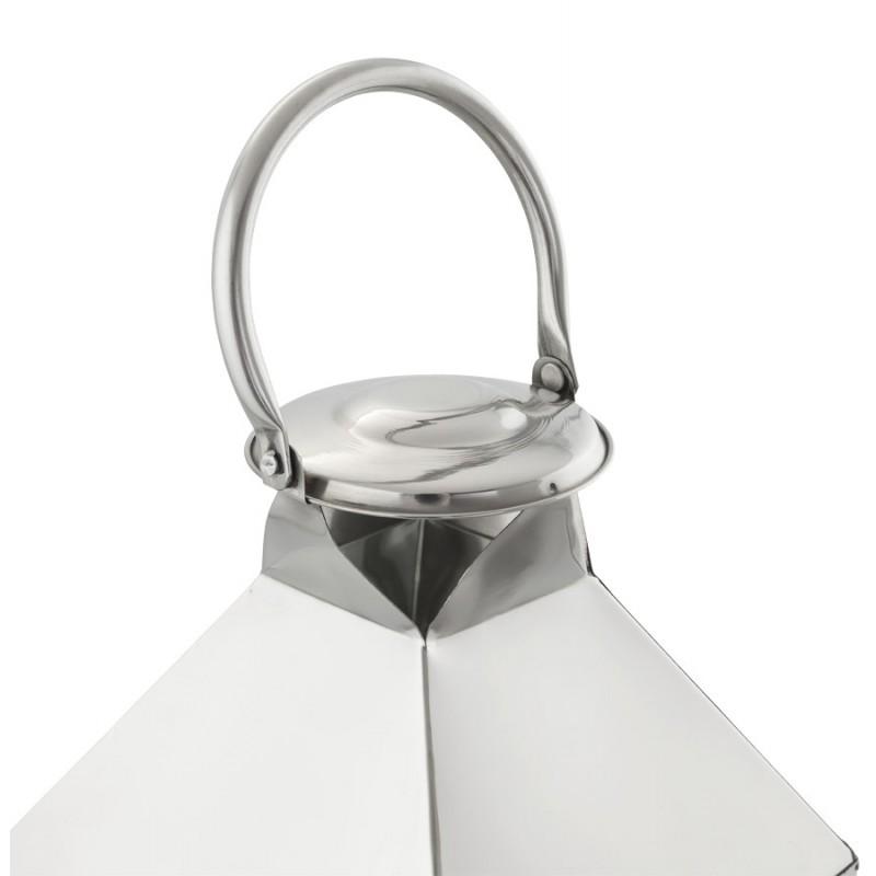 Lanterne DRONGO en aluminium (grand modèle) (argent) - image 18079