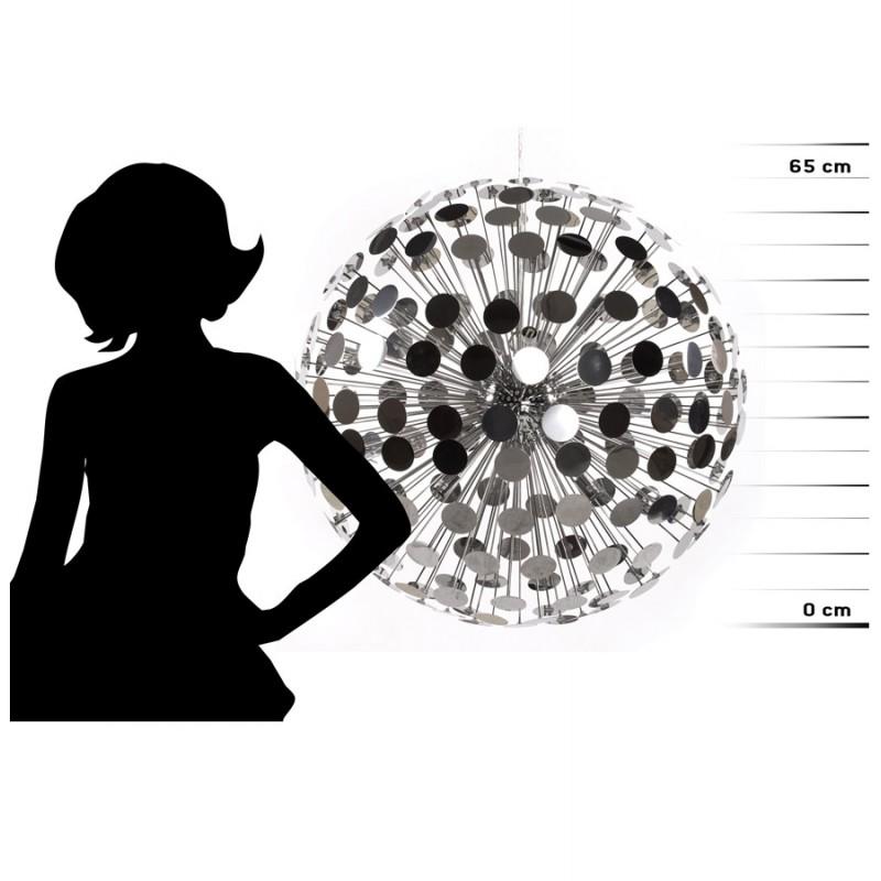 Lampe suspendue design CALAO en métal (chromé) - image 18096