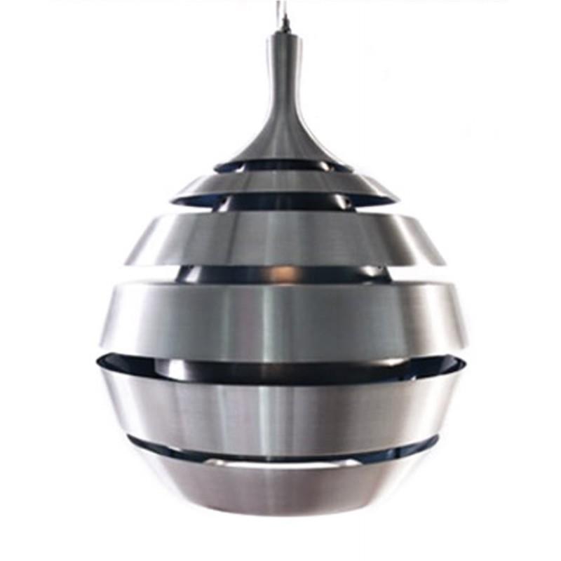 Lampe suspendue design TROGON en métal (argent) - image 18102