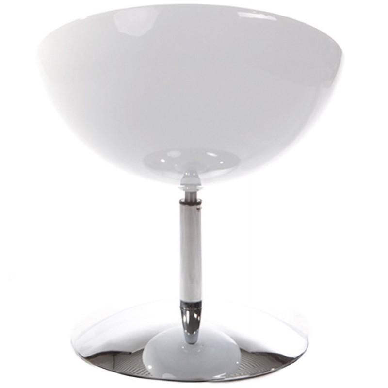 Poltrona LOIRE design sfera in ABS (bianco) - image 18141