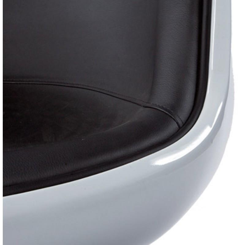 Fauteuil design TARN rotatif (noir et blanc) - image 18259