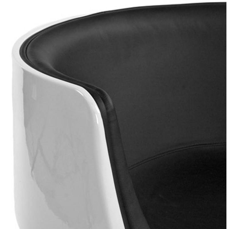 Fauteuil design TARN rotatif (noir et blanc) - image 18260