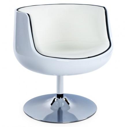 Design rotary armchair TARN (white)