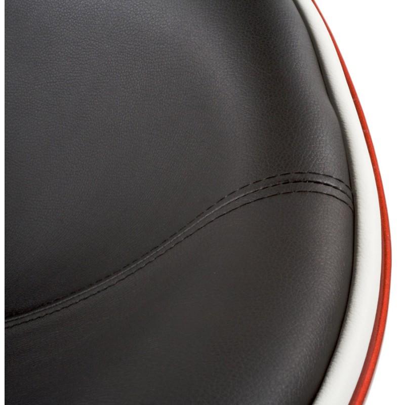 Fauteuil design RHONE rotatif (rouge et noir) - image 18278