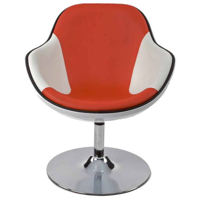 Design-Sessel Dreh RHONE (weiß und rot) - image 18281