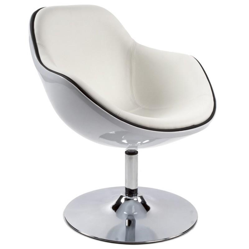 Fauteuil design RHONE rotatif (blanc) - image 18286