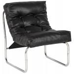 Armchair lounge SEINE in polyurethane (black)