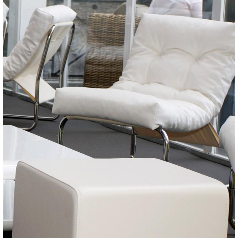 Fauteuil lounge SEINE en polyuréthane (blanc) - image 18311