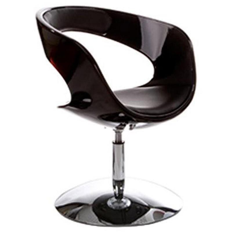 Fauteuil design RHIN en ABS (polymère à haute résistance) (noir) - image 18312