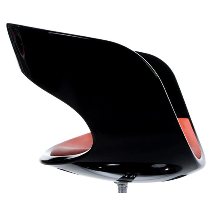 Fauteuil design RHIN en ABS (polymère à haute résistance) (noir et rouge) - image 18324