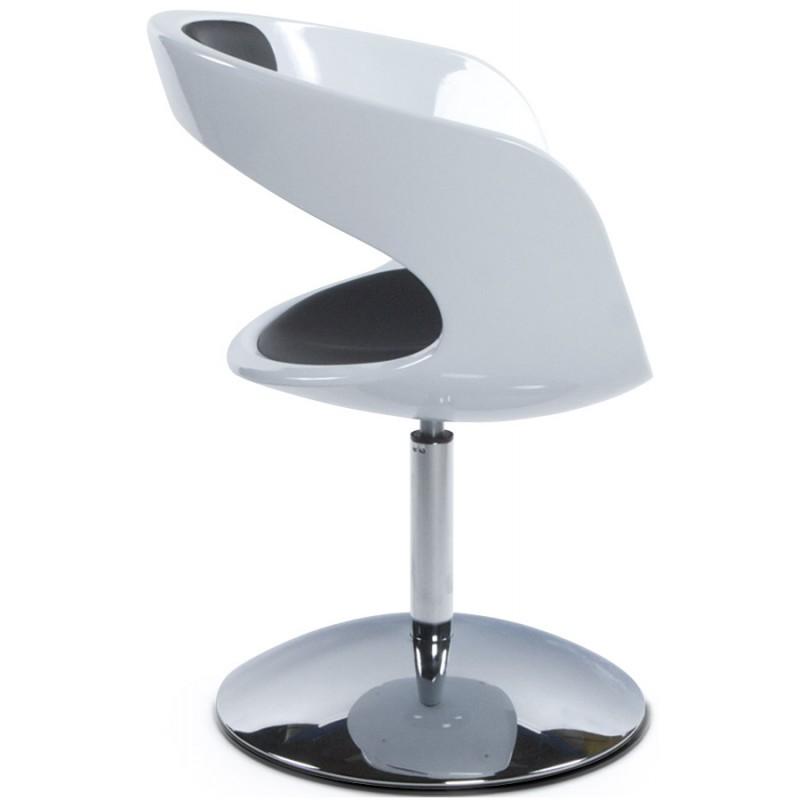 Fauteuil design RHIN en ABS (polymère à haute résistance) (noir et blanc) - image 18330