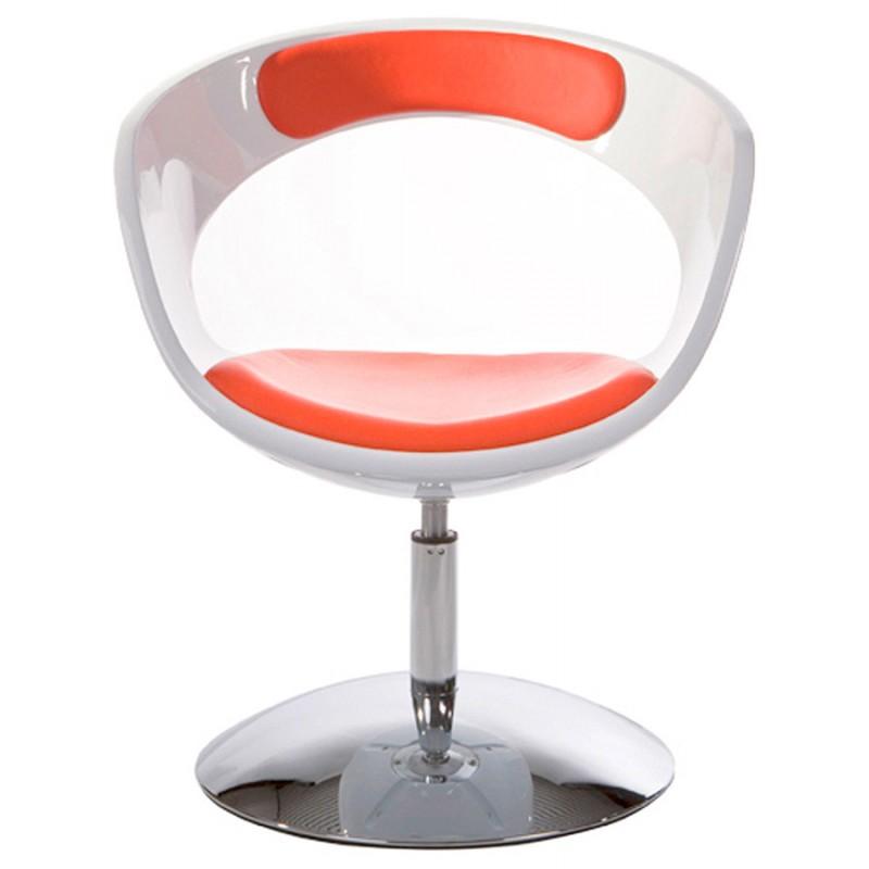 Design-Stuhl RHIN in ABS (hochfesten Polymer) (weiß und rot) - image 18336