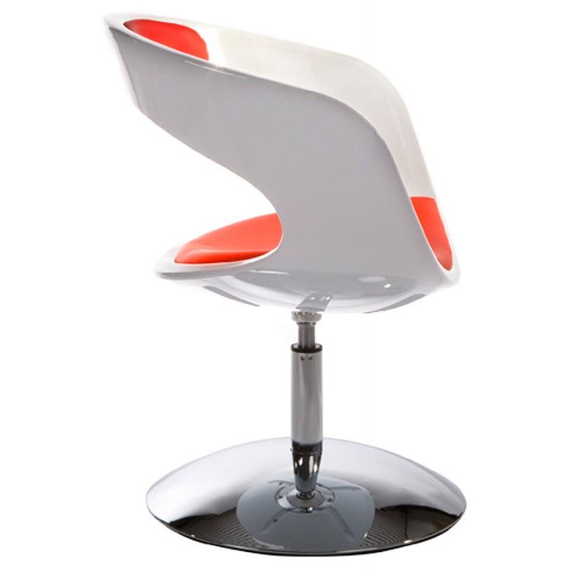Fauteuil design RHIN en ABS (polymère à haute résistance) (blanc et rouge) - image 18337