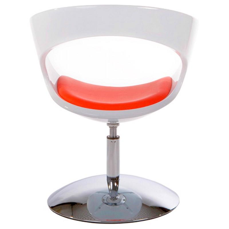 Fauteuil design RHIN en ABS (polymère à haute résistance) (blanc et rouge) - image 18338