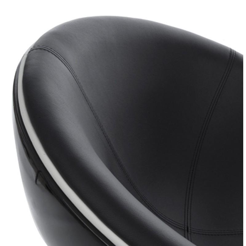 Fauteuil design rotatif GAROE en polyuréthane (noir) - image 18348