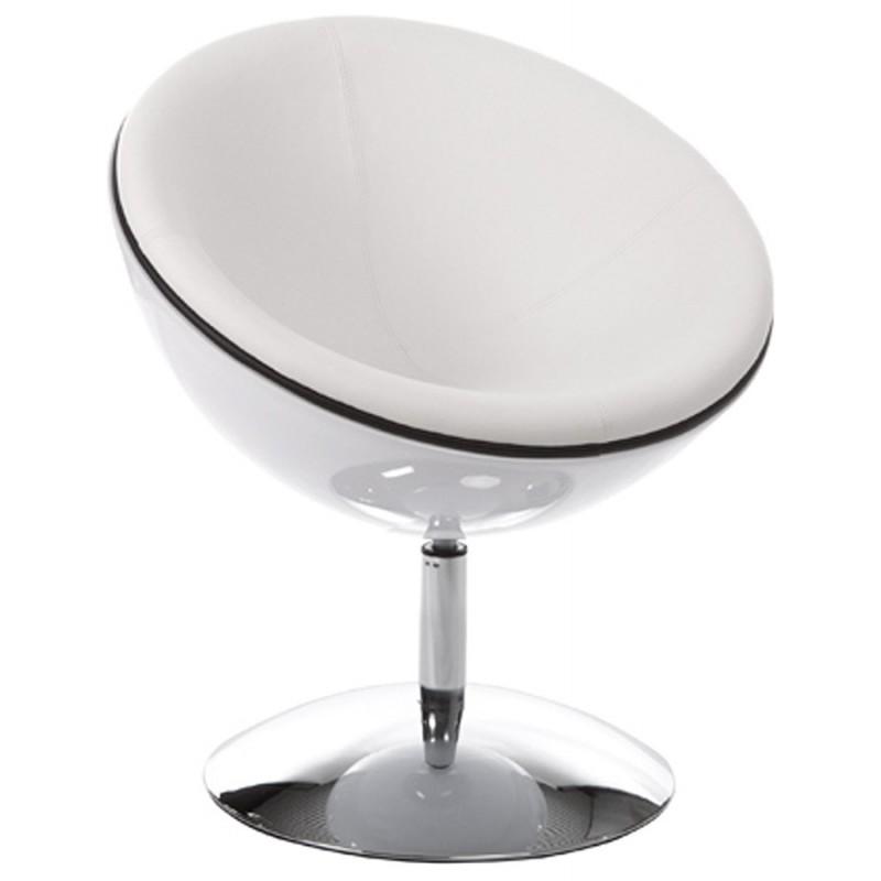 Fauteuil design rotatif GAROE en polyuréthane (blanc) - image 18374