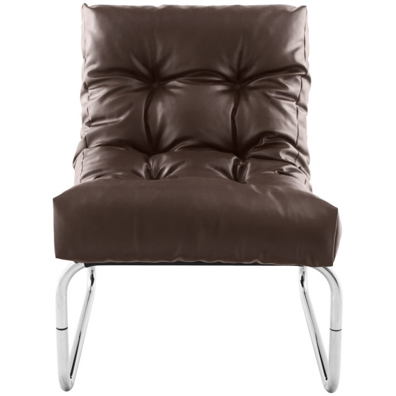 Design lounge armchair ISERE in polyurethane (Brown) - image 18393