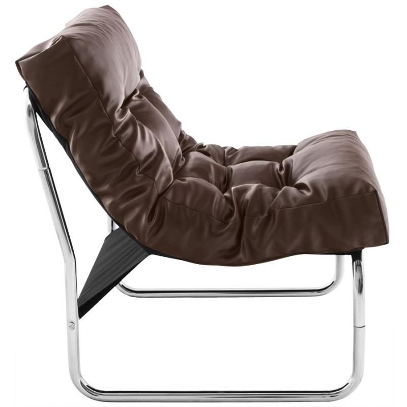 Design lounge Sessel ISERE polyurethan (braun) - image 18394
