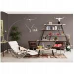 Design lounge armchair ISERE in polyurethane (Brown)