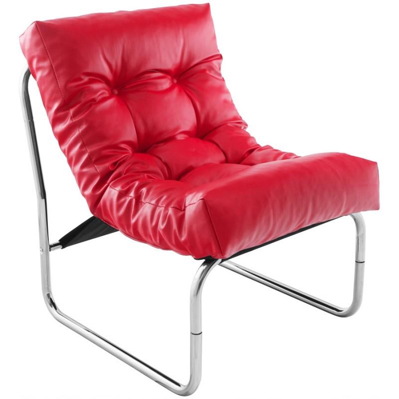 Fauteuil lounge design ISERE en polyuréthane (rouge) - image 18403