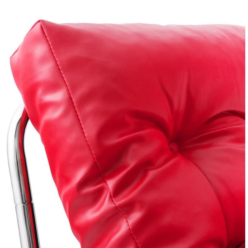 Fauteuil lounge design ISERE en polyuréthane (rouge) - image 18406