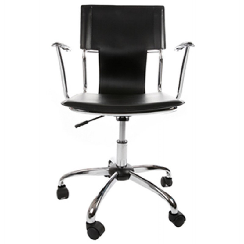 CHIPIE rotary office armchair in polyurethane (black) - image 18421