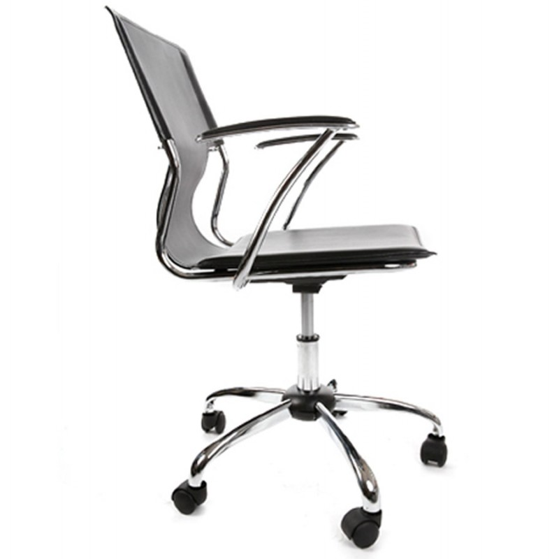 CHIPIE rotary office armchair in polyurethane (black) - image 18422
