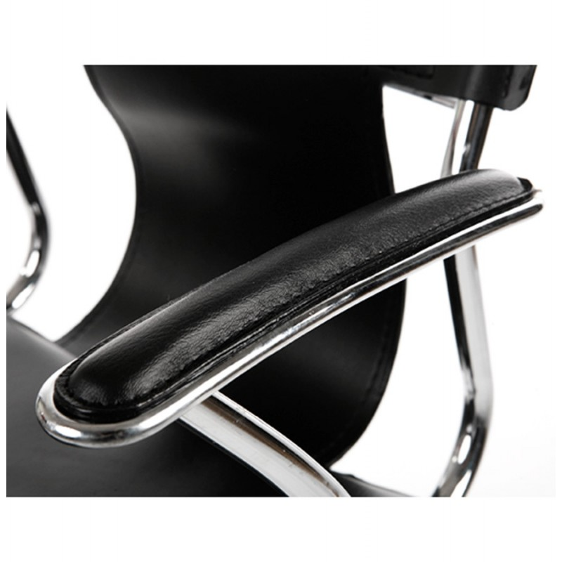 CHIPIE rotary office armchair in polyurethane (black) - image 18424