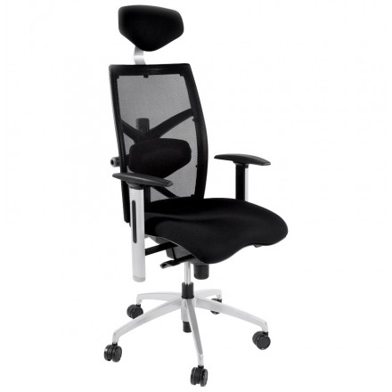 Office armchair CORNUE fabric (black)