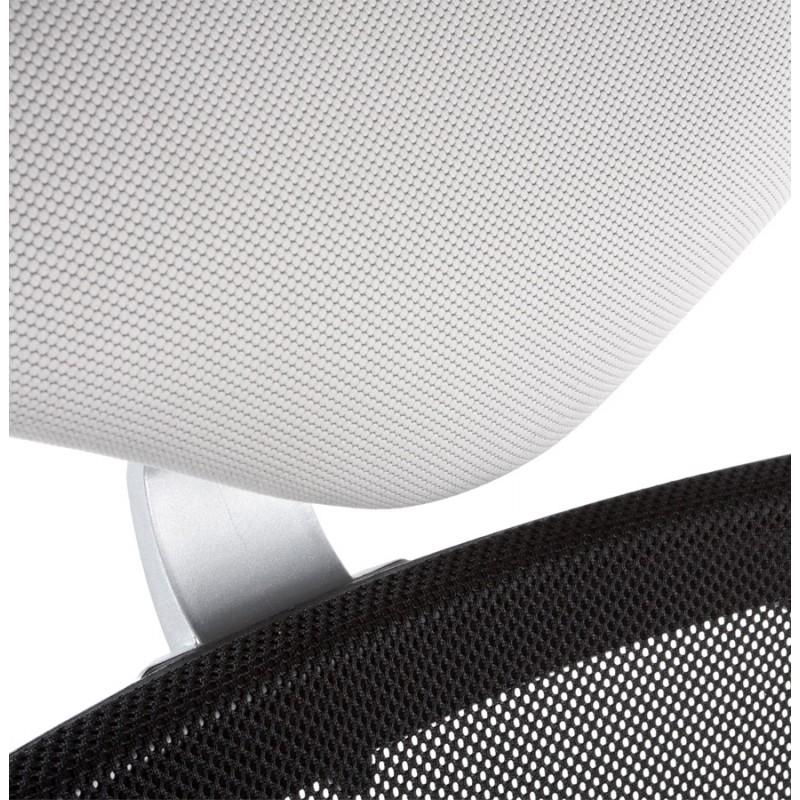 Fauteuil de bureau CORNUE en tissu (gris) - image 18471