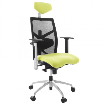 Office armchair CORNUE fabric (yellow)