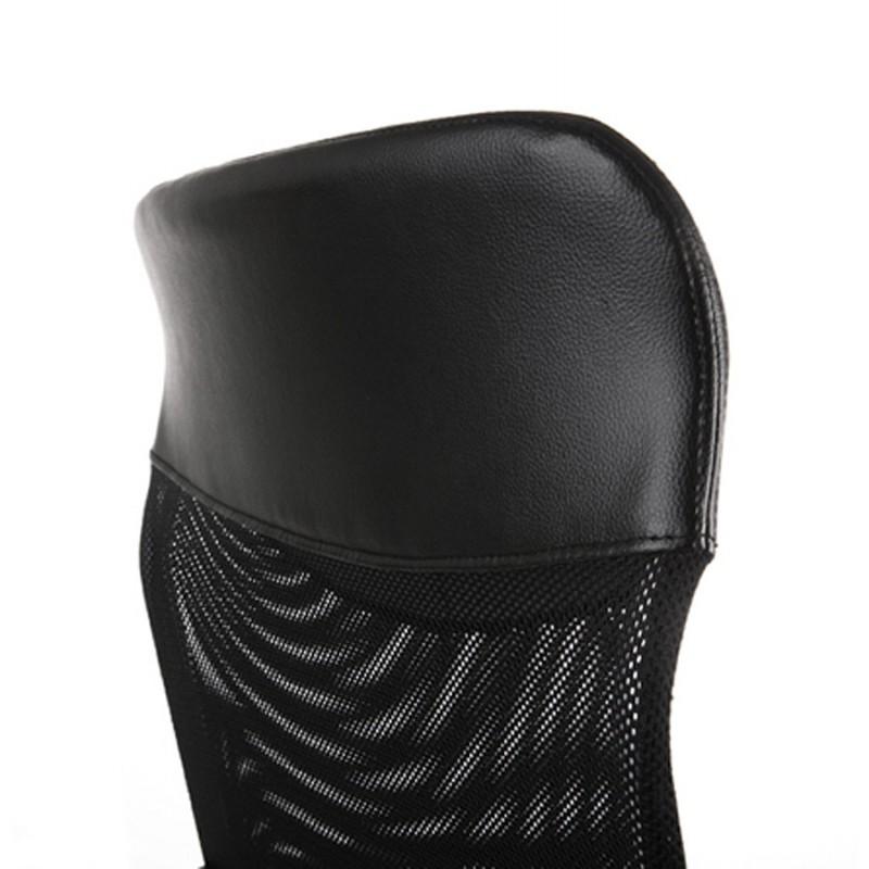 Fauteuil de bureau CONDOR en polyuréthane et tissu maille (noir) - image 18498