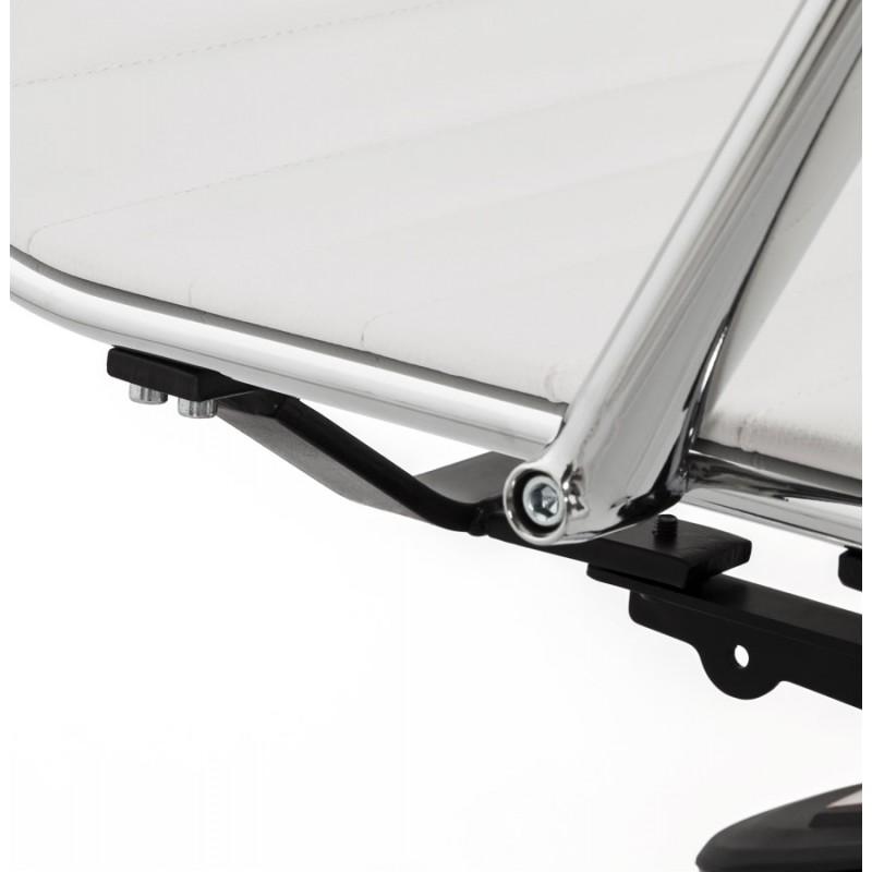 Fauteuil de bureau rotatif COURIS en polyuréthane (blanc) - image 18539