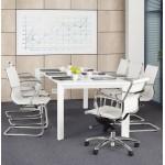Ufficio poltrona rotary COURIS in poliuretano (bianco)