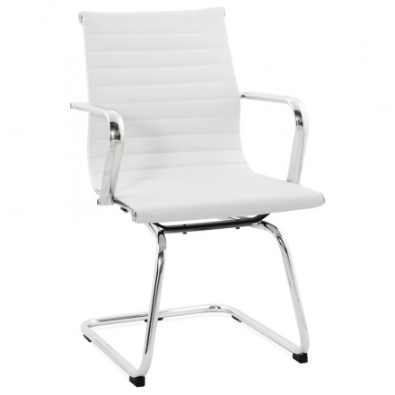 Office armchair COUROL in polyurethane (white)