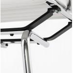 Silla de oficina de poliuretano COUROL (blanco)