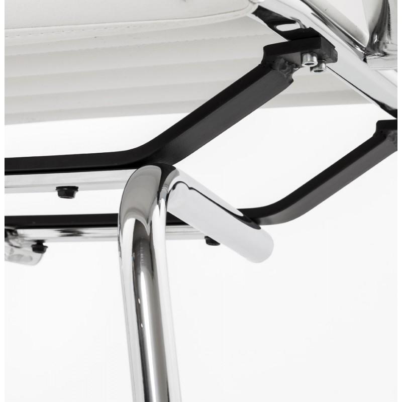 Silla de oficina de poliuretano COUROL (blanco) - image 18579