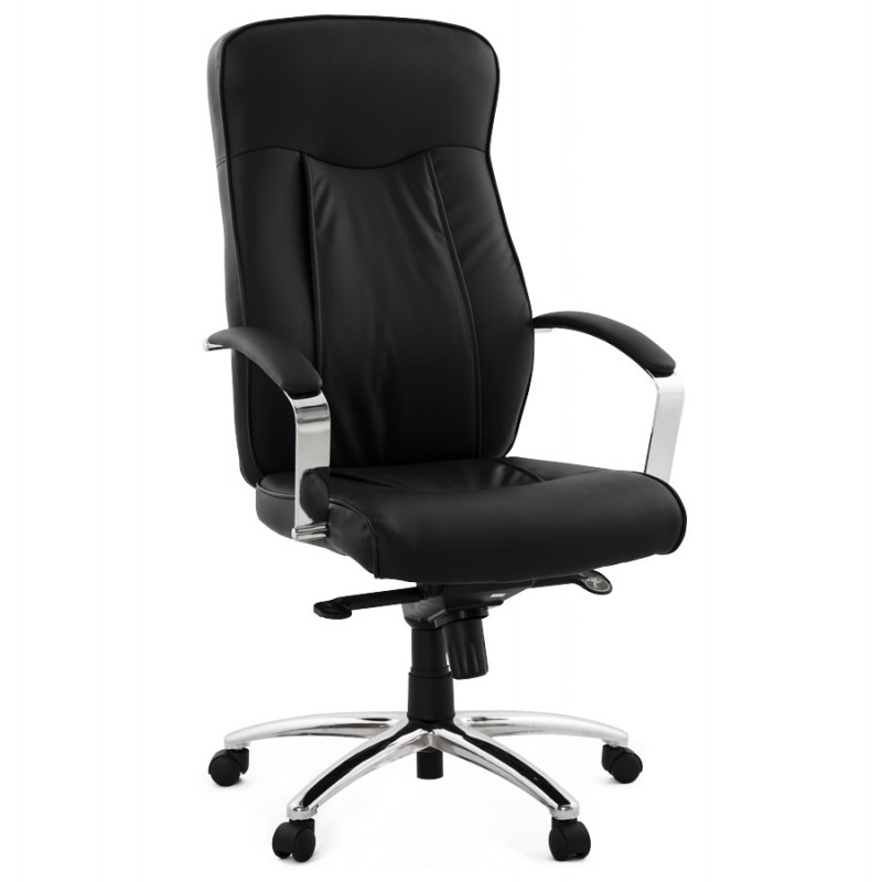 crabier office chair in polyurethane black. Black Bedroom Furniture Sets. Home Design Ideas