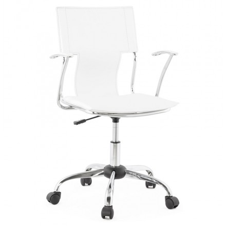 CHIPIE rotary office armchair in polyurethane (white)