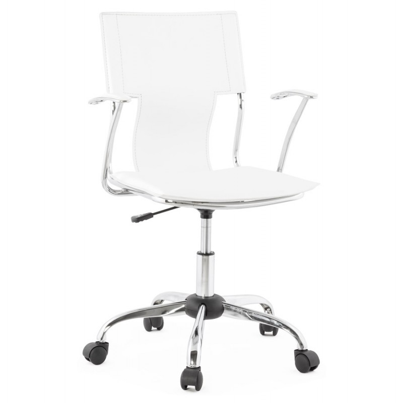 CHIPIE rotary office armchair in polyurethane (white) - image 18634