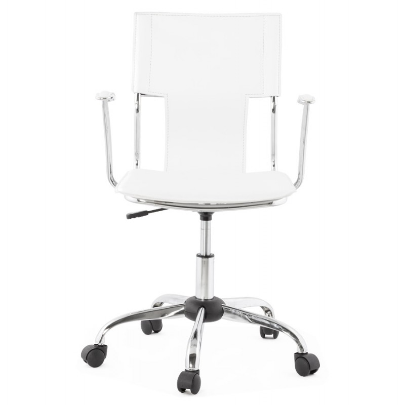 CHIPIE rotary office armchair in polyurethane (white) - image 18635