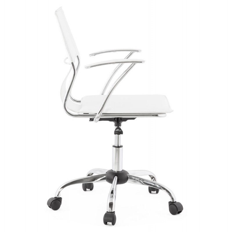 CHIPIE rotary office armchair in polyurethane (white) - image 18636