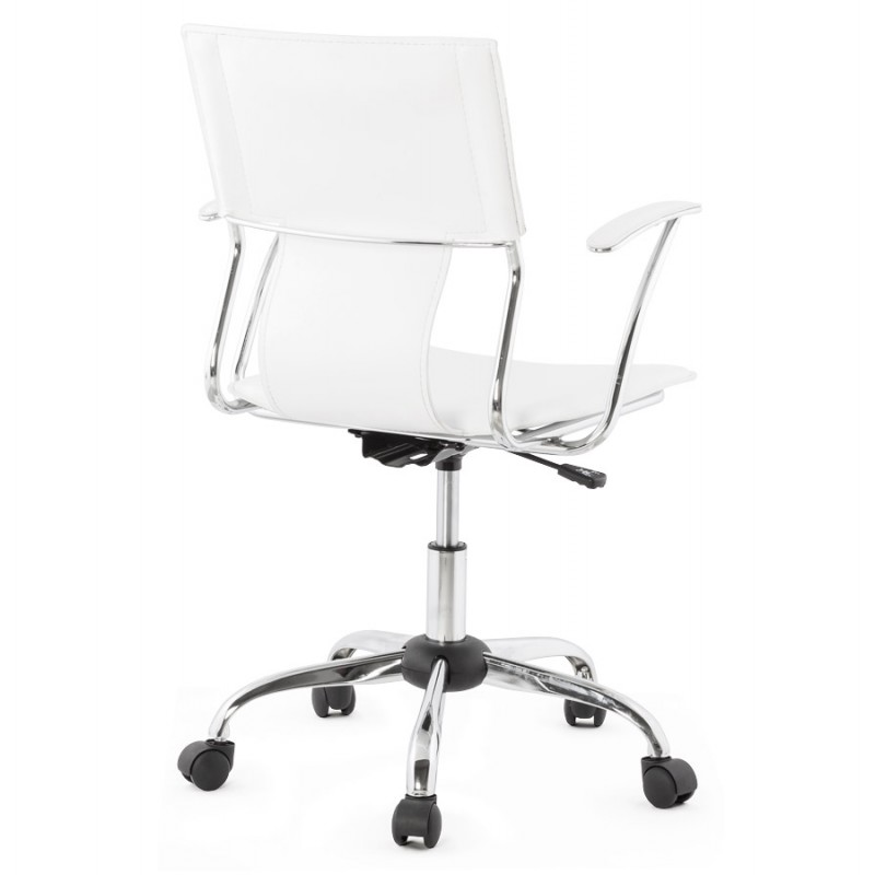 CHIPIE rotary office armchair in polyurethane (white) - image 18637