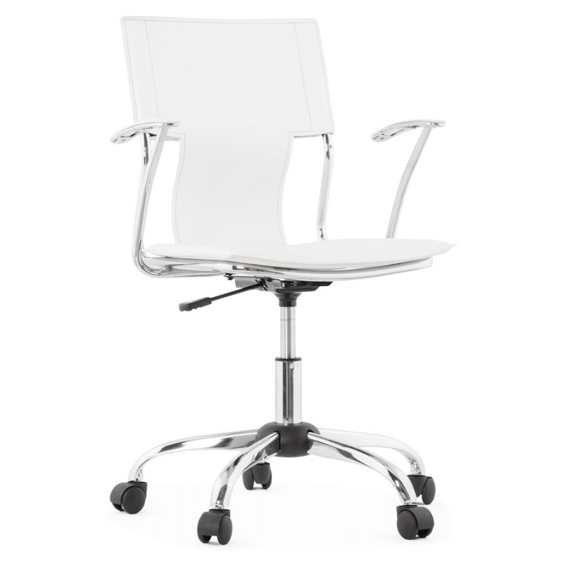 CHIPIE rotary office armchair in polyurethane (white) - image 18639