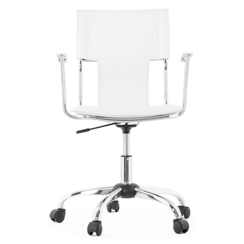 CHIPIE rotary office armchair in polyurethane (white) - image 18640