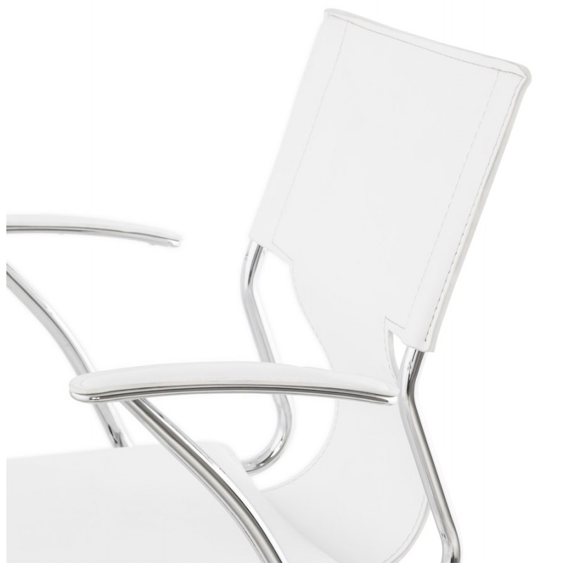 CHIPIE rotary office armchair in polyurethane (white) - image 18642